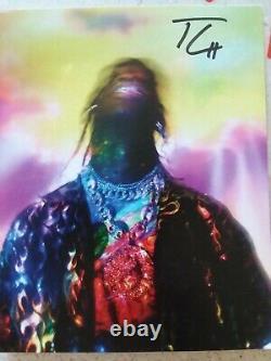 Travis Scott Astroworld Lp Vinyl CD Signé Lithographie Lenticulo Tour Money Bag