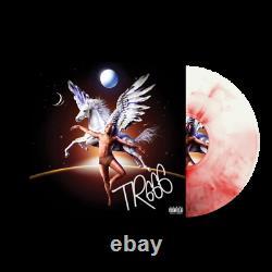 Trippie Redd Tr666 Exclusif Signé Pegasus Rouge Marbre Coloré Vinyl Lp Rare