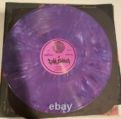 Zakk Sabbat Vivre À Détroit Entièrement Signé, Violet Swirl Vinyl Rare